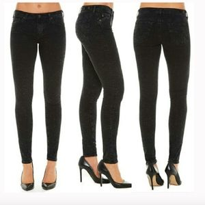 AG ADRIANO GOLDSCHMIED SHIMMER BLACK SKINNY JEAN